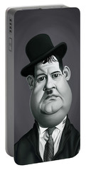 Celebrity Sunday - Oliver Hardy Portable Battery Charger by Rob Snow