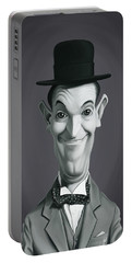 Celebrity Sunday - Stan Laurel Portable Battery Charger by Rob Snow