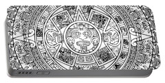 Portable Battery Charger featuring the photograph  Aztec Sun by Taylan Apukovska