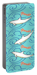 Portable Battery Charger featuring the digital art Florida Dolphin Print by Methune Hively