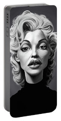 Portable Battery Charger featuring the digital art Celebrity Sunday - Marilyn Monroe by Rob Snow