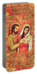 Portable Battery Charger featuring the painting Holy Family by Eva Campbell