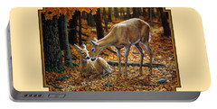 Whitetail Deer - Autumn Innocence 2 Portable Battery Charger