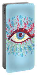 Strange Blue Psychedelic Eye Portable Battery Charger