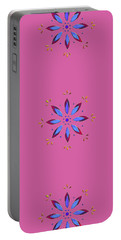 Flower On Pink Portable Battery Charger