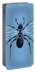 Abstract Winged Ant Portable Battery Charger by Boriana Giormova