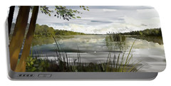 Quiet Day By Lake Portable Battery Charger