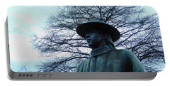 Austin Hike And Bike Trail - Iconic Austin Statue Stevie Ray Vaughn - Two Portable Battery Charger by Felipe Adan Lerma
