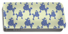 Portable Battery Charger featuring the mixed media French Poodle Plaid by Christina Rollo