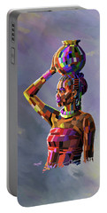 Girl Carrying Water Portable Battery Charger by Anthony Mwangi