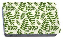 Portable Battery Charger featuring the mixed media Botanical Pattern by Christina Rollo