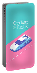 Crockett And Tubbs Retro 80s Portable Battery Charger