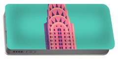 Chrysler Building - Green Portable Battery Charger
