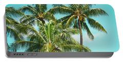 Portable Battery Charger featuring the photograph Coconut Palm Trees Sugar Beach Kihei Maui Hawaii by Sharon Mau