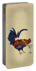 Cocktails Portable Battery Charger by Meg Shearer