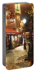 Place St Michel To Rue Saint-andre Des Arts Portable Battery Charger by Felipe Adan Lerma