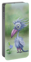 Portable Battery Charger featuring the painting Beauty Is Subjective by Ivana Westin