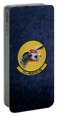 Portable Battery Charger featuring the digital art 27th Fighter Squadron - 27 Fs Over Blue Velvet by Serge Averbukh
