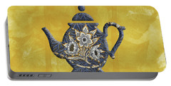 Tulips And Willow Pattern Teapot Portable Battery Charger