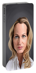 Celebrity Sunday - Gillian Anderson Portable Battery Charger by Rob Snow