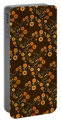 Portable Battery Charger featuring the digital art Autumn Flower Explosion by Methune Hively
