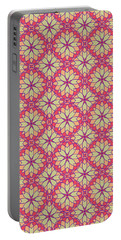 Portable Battery Charger featuring the digital art Stained Glass by Methune Hively