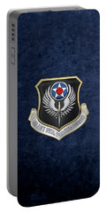 Air Force Special Operations Command -  A F S O C  Shield Over Blue Velvet Portable Battery Charger by Serge Averbukh