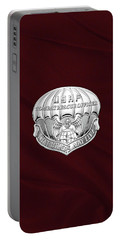 U. S.  Air Force Combat Rescue Officer - C R O Badge Over Maroon Felt Portable Battery Charger by Serge Averbukh