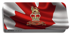 Canadian Provost Corps - C Pro C Badge Over Canadian Flag Portable Battery Charger by Serge Averbukh