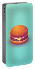 Burger Isometric - Plain Mint Portable Battery Charger