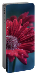 Portable Battery Charger featuring the photograph Gerbera Red Jewel by Sharon Mau