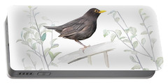 Ms. Blackbird Is Brown Portable Battery Charger