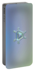 Real Snowflake Photo - Emerald Portable Battery Charger