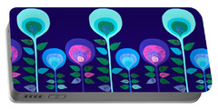 Space Flowers Portable Battery Charger