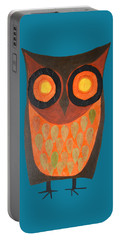 Give A Hoot Orange Owl Portable Battery Charger