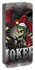 Joker Poker Skull Portable Battery Charger