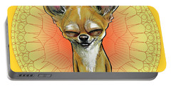 Meditating Chihuahua Portable Battery Charger