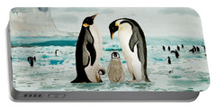 Emperor Penguin Family Portable Battery Charger
