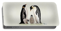 Penguin Family Watercolor Portable Battery Charger