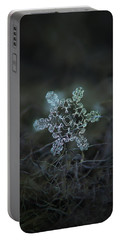Portable Battery Charger featuring the photograph Real Snowflake - Slight Asymmetry New by Alexey Kljatov