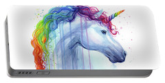 Rainbow Unicorn Watercolor Portable Battery Charger