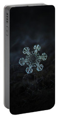 Portable Battery Charger featuring the photograph Real Snowflake - Ice Crown New by Alexey Kljatov