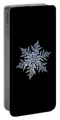 Real Snowflake - Silverware Black Portable Battery Charger