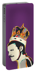 Freddie Mercury Pop Art Quote Portable Battery Charger