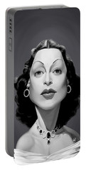Portable Battery Charger featuring the digital art Celebrity Sunday - Hedy Lamarr by Rob Snow