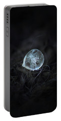 Portable Battery Charger featuring the photograph Drop Of Ice Rain by Alexey Kljatov