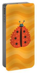 Orange Ladybug Masked As Autumn Leaf Portable Battery Charger