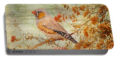 Zebra Finch Among Almond Trees Portable Battery Charger