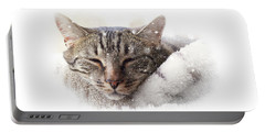 Cat And Snow Portable Battery Charger