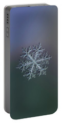 Portable Battery Charger featuring the photograph Real Snowflake - Hyperion Dark by Alexey Kljatov